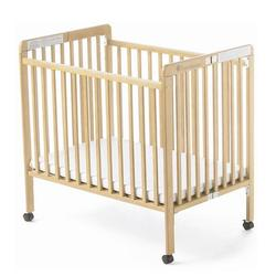 Foundations 73-SS-N2 Little Dreamer Compact-Size Folding Crib - Natural