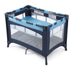 Foundations 50-BS-N1 Celebrity Play Crib with Bassinet - Blue