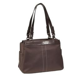 Amy Michelle ORCHOC Orchid Classic Baby Bag - Chocolate Brown (Blue Lining)