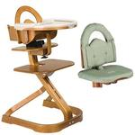 Scandinavian Child Signet Complete High Chair Cherry Finish With Sage Cushion