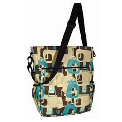 Amy Michelle RDCHTQ Rodeo Drive Tote Diaper Bag - Chocolate (Turquoise Lining)