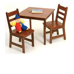 Lipper Childrens Square Table & Chairs - Cherry 514C