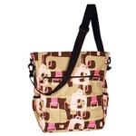 Amy Michelle RDCHPK Rodeo Drive Tote Diaper Bag - Chocolate (Pink Lining)