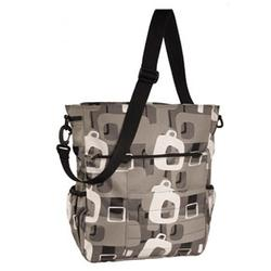 Amy Michelle RDCHAR Rodeo Drive Tote Diaper Bag - Charcoal (Cardinal Lining)