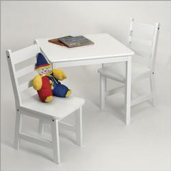 Lipper Square Table & 2 Chairs Set 514W -  White