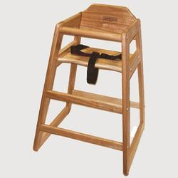 Restaurant Style High Chair 516P - Pecan