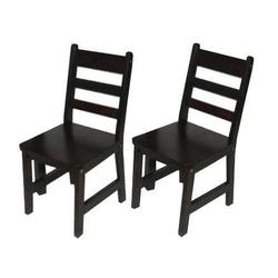 Lipper International 523/4E Child's Chairs, Set of 2, Expresso