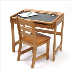 Lipper International Child's Desk W/chalkboard Top & Chair - Pecan