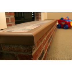 Cardinal Gates KEBR Metal Backed Hearth Guard Edge (45-78 Inches) - Brown