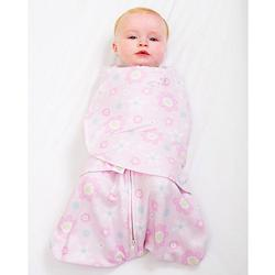 Halo 903 100% Cotton SleepSack Swaddle - Pink Daisies/Newborn