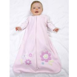 Halo 889 Applique MicroFleece SleepSack Wearable Blanket - Pink Daisies/Medium