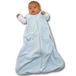 Halo 283 Deluxe Velboa SleepSack Wearable Blanket - Pale Blue/Medium