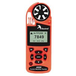 Kestrel 0840ORA 4000 Pocket Weather Tracker - Safety Orange