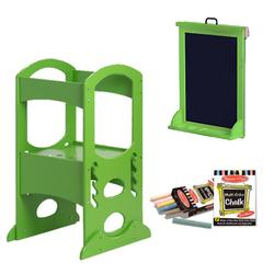 Little Partners LP00409ESLC, Apple Green Learning Tower With Matching Easel and Chalk