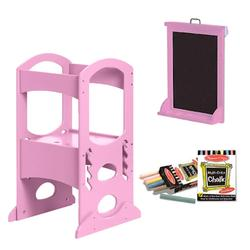 Little Partners LP00408ESLC, Pink Learning Tower With Matching Easel and Chalk