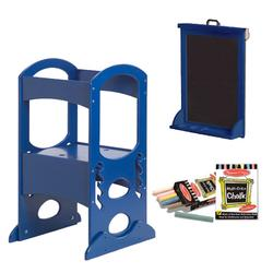 Little Partners LP00407ESLC Royal Blue Learning Tower With Matching Easel and Chalk