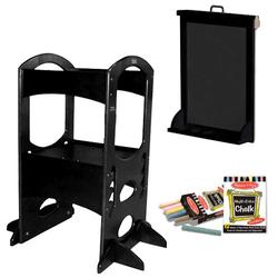 Little Partners LP00403ESLC Ebony Learning Tower With Matching Art Easel and Chalk