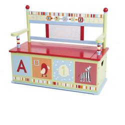 Levels of Discovery LOD70001 Alphabet Soup Toy Box Bench