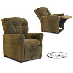 Dozydotes 10148 Micro Suede 4 Button Children's Recliner - Brown Bomber