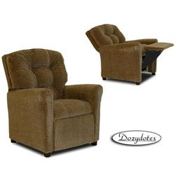 Dozydotes 10146 Fabric Four Button Children's Recliner - Hot Chocolate