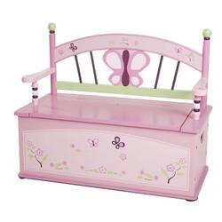 Levels of Discovery LOD70004 Sugar Plum Toy Box Bench