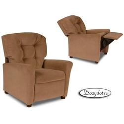 Dozydotes 10153 MicroSuede Four Button Childrens Recliner - Tumbleweed