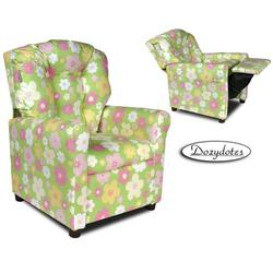 Dozydotes 10595 Fabric Four Button Childrens Recliner - Ellies Garden