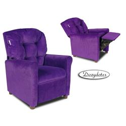 Dozydotes 10149 MicroSuede Four Button Children's Recliner - Glamorous Grape