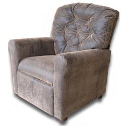 Dozydotes 7804 Leather-Like Classic 7 Button Childrens Recliner - Brown Bomber