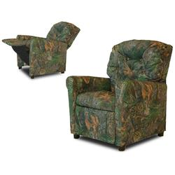 Dozydotes 10160 Fabric Classic 7 Button Childs Recliner - Camouflage