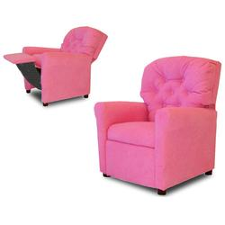 Dozydotes 7268 MicroSuede Classic 7 Button Children's Recliner - Hot Pink