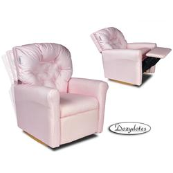 Dozydotes 10557 Classic 7 Button Childrens Recliner - Pink Gingham