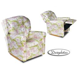 Dozydotes 10560 Classic 7 Button Children's Recliner - Pink Toile