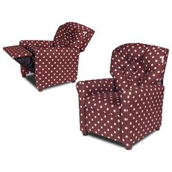 Dozydotes 10881 Classic 7 Button Children's Recliner - PINK a Dot