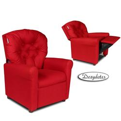 Dozydotes 10559 Classic 7 Button Children's Recliner - Rocket Red