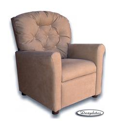 Dozydotes 8201 MicroSuede Classic 7 Button Children's Recliner - Tumbleweed