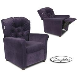 Dozydotes 10164 MicroSuede Classic 7 Button Children's Recliner - Glamorous Grape