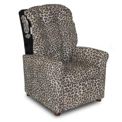 Dozydotes 10914 Classic 7 Button Children's Recliner - Snow Leopard