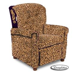 Dozydotes 10888 MicroSuede Classic 7 Button Children's Recliner - All Cheetah