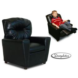 Dozydotes 9774 Leather-Like Childrens Recliner with Cup Holder - Black