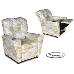 Dozydotes 10579 Children's Recliner with Cup Holder - Pink Toile