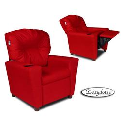 Dozydotes 10578 Children's Recliner with Cup Holder - Rocket Red