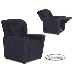 Dozydotes 9976 Micro-Suede Children's Recliner with Cup Holder - Glamorous Grape