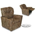 Dozydotes 10886 MicroSuede Children's Recliner with Cup Holder - All Cheetah
