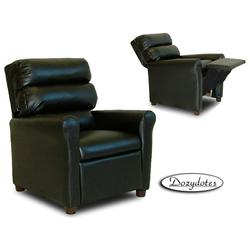 Dozydotes 1357 Leather Like Waterfall Children's Recliner - Black