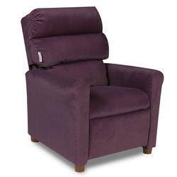 Dozydotes 10182 Micro-Suede Waterfall Children's Recliner - Glamorous Grape