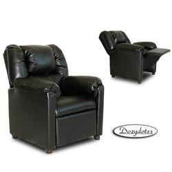 Dozydotes 7801 Leather Like Stratolounger Children's Recliner - Black