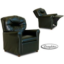 Dozydotes 10171 Leather Like Contemporary Children's Recliner - Black