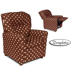 Dozydotes 10564 Contemporary Childrens Recliner - PINK a Dot