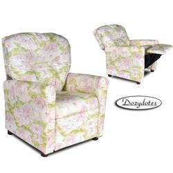 Dozydotes 10571 Contemporary Childrens Recliner - Pink Toile